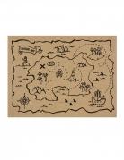 7 Sets de table en papier kraft carte aux trésors 40 x 30 cm