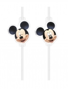4 Pailles médaillon en plastique Mickey™