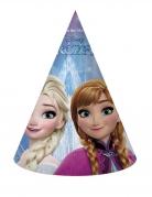 6 Chapeaux de fête en carton La Reine des Neiges Flocons™