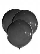 5 Ballons géants en latex noirs 47 cm
