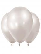Vous aimerez aussi : 12 Ballons métallisés blanc perles 28 cm