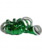 2 Rouleaux de serpentins holographiques verts 4 m