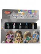 5 crayons maquillage à l'eau effet perlé enfant 2,8 g