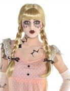 Perruque poupée angoissante blonde adulte