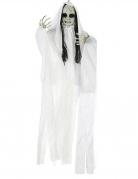 Décoration à suspendre poupée fantôme lumineuse 100 x 70 cm