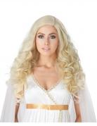 Perruque luxe blonde longue bouclée femme