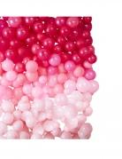 Mur de ballons en latex ombrés roses 200 x 200 cm