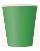 8 Gobelets en carton verts 266 ml