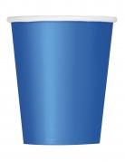 8 Gobelets en carton bleus 266 ml