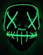 Masque led lumineux vert adulte