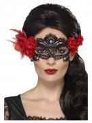 Masque dentelle noire Dia de los Muertos adulte