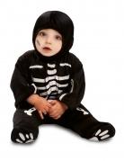 Déguisement combinaison petit squelette noir bébé