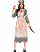 Déguisement infirmière rétro zombie femme