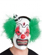 Masque latex clown terrifiant avec cheveux