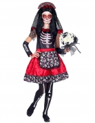 Déguisement Dia de los Muertos noir et rouge enfant