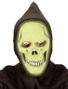 Masque intégral à capuche faucheur phosphorescent vert adulte