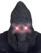 Masque intégral à capuche visage invisible et yeux lumineux rouge adulte