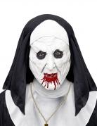 Masque demi-tête nonne horrible avec coiffe adulte