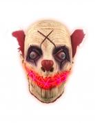 Masque latex lumineux clown adulte