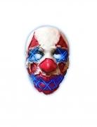 Masque latex lumineux clown de la nuit adulte