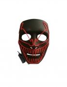 Masque luxe LED clown méchant adulte