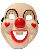Masque luxe LED clown rigolo adulte