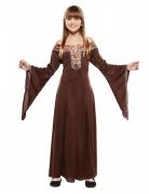 Déguisement robe dame médiéval brune enfant