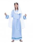 Déguisement Vierge Marie bleue fille
