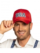 Casquette USA rouge adulte