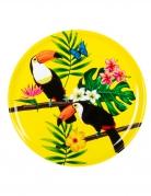 Plateau rond toucan jaune 34,5 cm