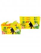 4 Bols en carton toucan jaunes 7 x 7 x 14 cm
