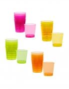 20 Verres shots en plastique multicolores