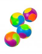 Accessoires piñata 4 balles puzzle multicolores 3 cm