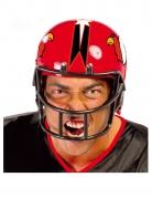 Casque joueur football rouge adulte