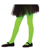 Collants verts opaques fille