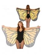 Ailes de papillon orange 170 x 80 cm adulte