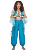 Déguisement princesse orientale turquoise fille