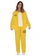 Déguisement prisonnière jaune femme