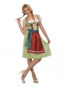 Déguisement robe oktoberfest verte femme