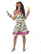 Déguisement robe à motif ananas femme