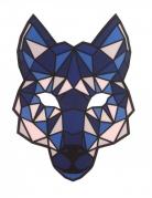 Masque loup à LED réactives adulte