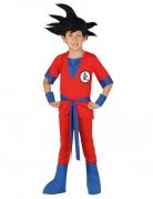 Déguisement de ninja manga rouge garçon
