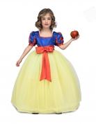 Déguisement princesse de bal jaune et bleu fille