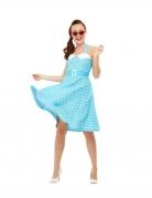 Déguisement pin-up bleu rétro femme