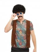 Kit perruque et accessoires hippie multicolore homme