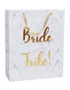 Sac cadeau marbre Bride Tribe EVJF 32 x 25 cm