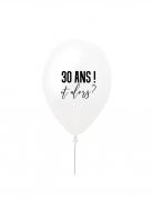 Ballon en latex 30 ans et alors ? blanc et noir 27 cm