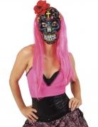 Vous aimerez aussi : Masque Dia de los muertos avec rose rouge adulte