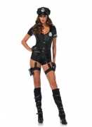 Déguisement combishort luxe police sexy femme