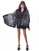 Déguisement Ailes d'ange poncho noir femme